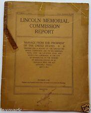 Lincoln Memorial Commission Report           Original 1913 Government Printing