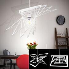 Suspension DEL luminaire plafond lampe LED éclairage métal blanc salle de séjour