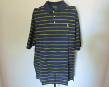NWT Polo Ralph Lauren Golf Navy Striped Cotton Polo Size XL $85
