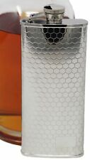 5 oz Stainless Steel Boot Alcohol Liquor Flask in Honeycomb Pattern