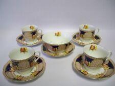 BELL Art Deco Fine Bone China Teacups, Saucers & Bowl -Shore & Coggins