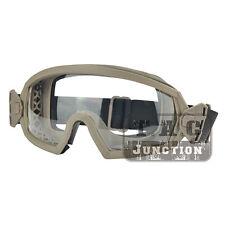 Tactical Combat Regulator Goggles Anti-fog Lenses Uv Lo-Pro Protective Eyewear