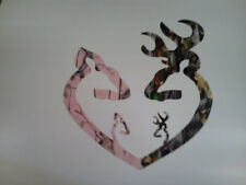 3.5'' x 3.5'' Yeti cup  Camo Heart pink with 1 girl and 1 boy Sticker