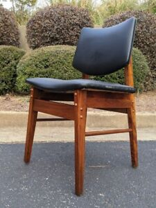 Refurbished Vintage MCM Walnut Chair C275 'style' side/accent chair Jens Risom?