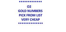 O2 GOLD VIP BUSINESS NUMBER DIAMOND PLATINUM SIM CARD PICK FROM LIST
