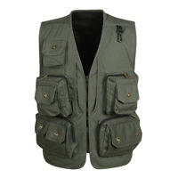 Men Fishing Netting Vest Summer use Hunting Jacket Multi-pocket Photography Vest
