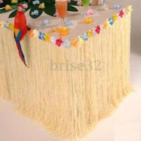 Hawaiian Luau Colorful Flower Grass Garden Beach Party Table Skirt Cover Decor