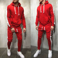 Mens Tracksuit Jogging Hoodie Coat Jacket + Trousers Pants Sports Sweat Suit Set