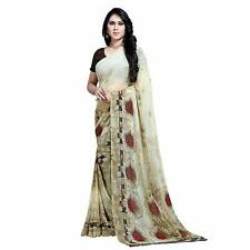 Floral Printed Designer Bollywood Saree Party Wear Indian Pakistani Sari