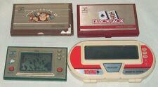 NINTENDO GAME & WATCH LOT 4 DONKEY KONG 2 POPEYE BLACK JACK BOXING BROKEN LCD