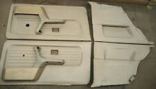 BMW Full Door Trim Set E30 2 Dr Coupe Beige Vinyl OEM