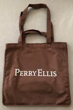 Perry Ellis Limited Edition Brown Handheld/Shoulder Canvas Bag With Dual Straps