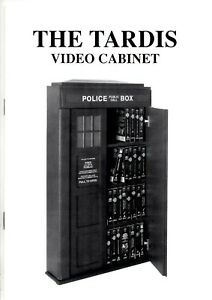 THE TARDIS Video Cabinet ASSEMBLY INSTRUCTUIONS 10 PAGE BOOKLET Doctor Who Rare