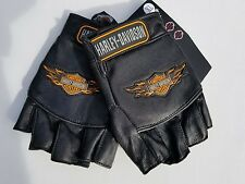 Harley Davidson Leather  Gloves Fingerless XL