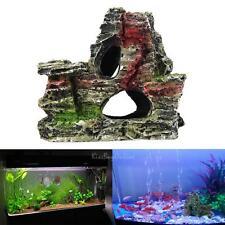Mountain View Aquarium Rock Cave Tree Bridge Fish Tank Ornament Rockery Decor