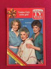 """1985, Golden Girls, """"TV Week"""" Guide"""