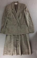 "Vintage Austin Hill Wool Skirt Suit Beige Tweed Boucle Tag Size 10 28"" Waist USA"