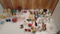 lot of 14  vintage  sets salt & pepper shakers and 40 orphan pieces