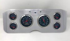 1955 1956 1957 1956 1959 GMC 6 Gauge Dash Cluster Set Billet Insert Black