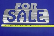 "FOR SALE SIGN Plasma Cut 20-1/8"" X 10"" X 10 GA. Steel Man Cave Car Dealer Garage"