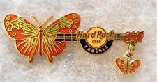 HARD ROCK CAFE PHOENIX BUTTERFLY DANGLER GUITAR SERIES PIN # 39192