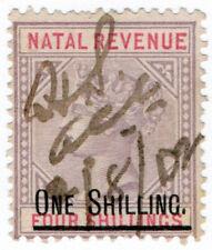 (I.B-BOB) Natal Revenue : Duty Stamp 1/- on 4/- OP