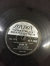 "RICKY NELSON stood up/waitin in school INDIA INDIAN RARE 78 RPM RECORD 10"" VG"