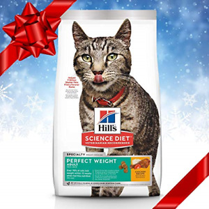Hill's Science Diet Dry Cat Food, Adult, Perfect Weight for Healthy Weight & 15