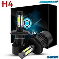 2X H4 9003 120W 14400LM LED Headlight Kit Conversion Bulb Hi-Lo Beam 6000K White