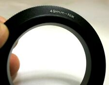49mm Macro Reverse Lens Adapter Ring For Nikon F ai D3500 D7200 cameras Close-up
