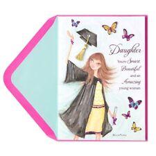 """Bella Pilar Gal"" Graduation Card (for Daughter) - Papyrus Unique Glitter"