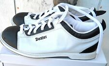 CLASSIC DEXTER BLACK AND WHITE LEATHER WOMEN'S BOWLING SHOE SZ US 8,EU-38 USED)