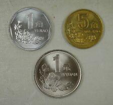 China Coin 1 jiao 5 Jiao and 1 Yuan 1993