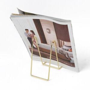 Iron Display Stand Easel Exquisite Bookshelf Photo Book Holder Home Decorat Fz