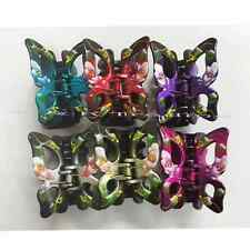 """6pc Butterfly Flower Hair Clips Summer Hand Painted Jaw Clamp Comb Claw Lots 3"""""""