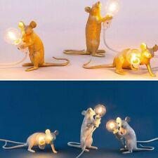 Retro Rat Table Lamp Mouse Light Bedside Resin Lamp Home Office Desk Decor