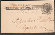 1902 postal card Commercial National Bank Chicago to Pipestown County Bank MN