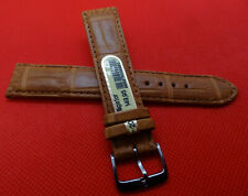 New Mens Di-Modell Tan Padded Genuine Alligator 20mm Watch Band w/Silver Buckle