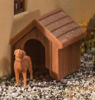 HO Scale Dog & Kennel (Doghouse) Kit - Walthers #949-4147