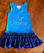 EUC Born 4 Couture $50 Rhinestone Dress with Twirl Skirt Sz 18 Mos Worn Once