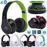 Foldable Wireless Bluetooth 4.0 Stereo Headset Hands-free Headphone Mic TF Card