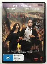 Inferno - Region 2, 4, 5 DVD -  Tom Hanks, Felicity Jones, Irrfan Khan