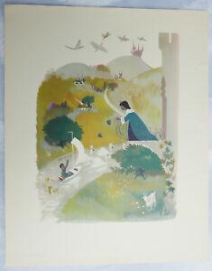 Planche illustrée par J. Ide—Ferme l'œil, le petit Elfe—Andersen—Années 50—#3