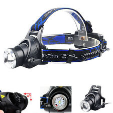 Bright 6000LM 3Modes XML T6 LED Headlamp Headlight Zoomable Head Lamp Toch 18650