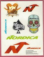 (8) EIGHT NORDICA SMALL HELMET SIZE SKI SNOWBOARD STICKERS DECALS FREE SHIPPING