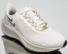 Nike Air Zoom Pegasus 37 Premium Women's Ivory Gold Black Running Shoes Sneakers