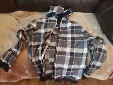VANS Off The Wall Gray Black Full Zip Up Hooded Hoody Shirt Jacket Medium Med M