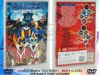 1 BOX 2 DVD ANIME,GAKEEN MAGNETICO ROBOT 4 MAGNETO 7,8 ULTIMI EPISODI INEDITI TV