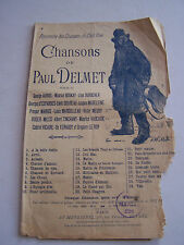PROGRAMME CHANSONS PARTITIONS , CHANSONS DE PAUL DELMET .