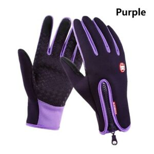 WINTER WARM WINDPROOF WATERPROOF Anti-Slip Thermal Touch Screen Gloves with Zip